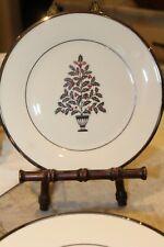 "Lenox *Dimension Solitaire Christmas Ivory /Platinum Salad Plate 8 1/8"""