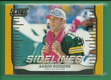 Aaron Rodgers 2016 Score Sidelines GOLD Parallel Insert Card #5 Packers Football