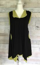 Design Today's Asymmetrical Lagenlook Tank Top Tunic Shirt 3005V Women Small USA