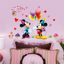 Mickey Minnie Mouse Cartoon Wall Stickers Kids Nursery Decor Art Decal Removable