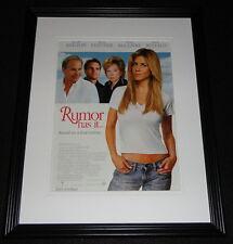 Rumor Has It 2005 11x14 Framed ORIGINAL Advertisement Jennifer Aniston K Costner