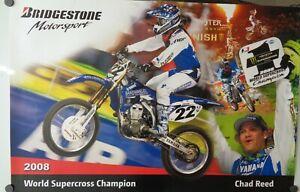 Motorcycle Poster 2008 Chad Reed Supercross Yamaha Champion Motocross YZ450F