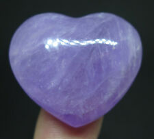 33mm 0.7OZ NATURAL Purple Amethyst Quartz Crystal Carving ART Heart