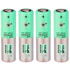 4 MXJO GREEN 18650F Batteries 3500mAh 10A/20A High Drain Rechargeable Battery