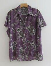 CROFT & BARROW Multicolor Cap Sleeve Button Down Shirt Plus Size 2X