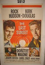 The Last Sunset Original 1sh Movie Poster 1961 Rock Hudson, Kirk Douglas,