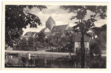 AK, Plau Kr. Lübz, Elde-Partie mit Blick zur Kirche, um 1950