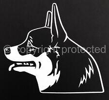 Pembroke Welsh Corgi Dog Profile Vinyl Window Art Decal Sticker -Oracal 651