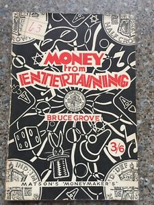(K)Vintage Magic Trick Book Money For Entertaining By Bruce Grove