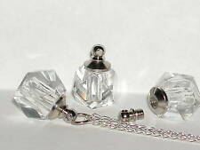 1 Crystal Ball Clear Perfume vial small tiny littlebottle Screw cap New *