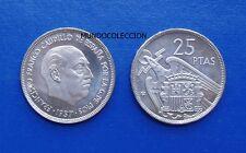 MONEDA DE 25 pesetas 1957 *72 Proof Franco S/C