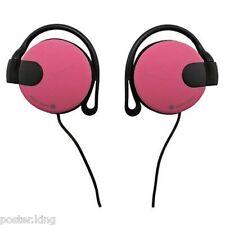 Pink 3.5mm On-Ear Clip Sports Foam Jogging Running Earphones for Apple iPod MP3