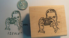 P34 Retro style photographer rubber stamp WM