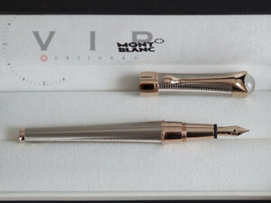 MONTBLANC Etoile Eternelle Sterling Silver & Diamond Fountain Pen Santos Plume M