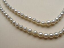 VINTAGE DOUBLE STRAND AKOYA CULTURED PEARL NECKLACE WITH GIA REPORT