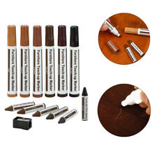 12Pcs Wood Furniture Touch Up Kit Marker Pen Wax Scratch Filler Remover Repair