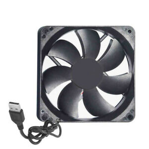 Mini DC 5V USB 12cm Silent Computer Case Cooling Fan Laptop PC CPU Cooler HE