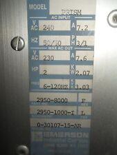 (X10) 1 USED EMERSON 2950-8000 PRISM AC DRIVE 240VAC 2HP