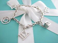 Rare Tiffany & Co Silver Atlas Charm Bracelet Bangle