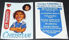KAREMBEU SAMPDORIA VACHE QUI RIT TOUFOOT'S FOOTBALL FRANCE 98 1998 PANINI