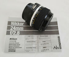 Nikon Nikkor 24mm f/2.8 manual focus non-AI camera lens