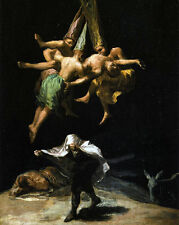 Francisco Goya Witches Pagan Occult Magic Ritual 8x10 Real Canvas Art Print