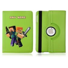 Mine Game 01 Personalised iPad 360 Rotating Case Cover Birthday Present Craft