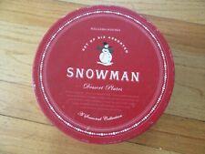 11K/Williams Sonoma Snowman Holiday Plates/Set Of 6/Box!
