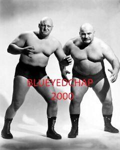 SKULL MURPHY & TONY ANGELO WRESTLER 8 X 10 WRESTLING PHOTO NWA WWWF