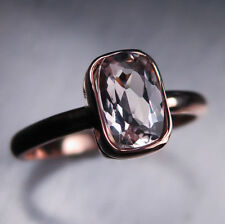Natural Not Enhanced Morganite Rose Gold Fine Rings