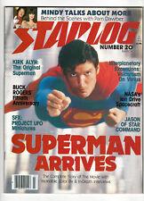 STARLOG # 20   Superman on  cover (Mar 1979)