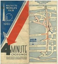 Map Routes to The World's Fair 1940 New York World's Fair