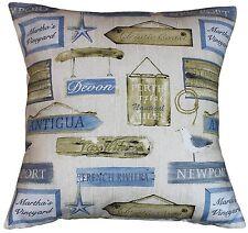 """Cushion Cover in Prestigious Harbour Antique  Fabric  17""""/43cm square"""