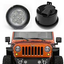 2x Smoked LED Smoked Front Turn Signal Lights For 2007-2016 Jeep Wrangler JK New