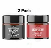 2 Pack Hyaluronic Acid + Dragons Blood Gel-Cream AntiAging ,Acne ,Wrinkle Serum