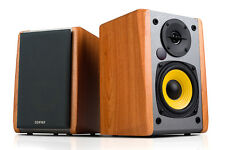 Edifier R1010BT Active Bluetooth Bookshelf Speaker Set - Maple