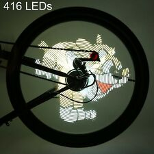 PRO DIY 416 LEDs Bike Wheel Spoke Light Waterproof Light Theme Flashing Safety