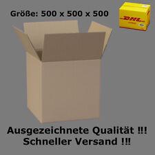 Karton DHL 500x500x500 Versandkarton 50x50x50 cm FALTKARTONS