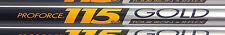 TAPER WEDGE SHAFT UST PROFORCE R TOUR V2 115 REGULAR FLEX GRAPHITE 355 tip taper