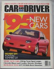 Car & Driver magazine 10/1994 featuring Rolls Royce, Chevrolet, Pontiac, Mercury