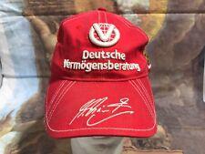🔥Deutsche Vermogensberatung Ferrari Michael Schurnacher #1 Red Hat Cap Sew🔥B2