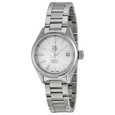 Tag Heuer Ladies Carrera White MOP Automatic Swiss Made Watch WAR2411.BA0776