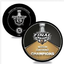 VEGAS GOLDEN KNIGHTS STANLEY CUP FINAL PUCK 2018 WESTERN CONFERENCE CHAMPIONS