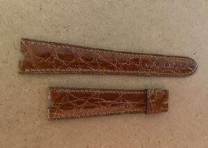 Omega Constellation T Split Lug Band Strap 18mm Croc Works For Cartier Must