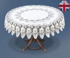 "Tablecloth round lace white NEW Ø140 cm (55"") fantastic Xmas gift/present"