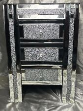 1 Fine Handmade Italian Venetian Style Crystal Beveled Mirrored Bedside Table