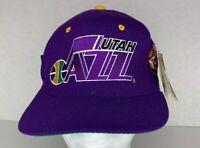 Vintage Starter Utah Jazz Purple Size 7-7 3/4 Baseball Hat Cap Wool