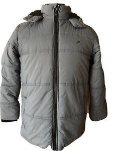 Calvin Klein New Youth Puffer Winter Jacket Coat Boys Size XL (18/20) Gray