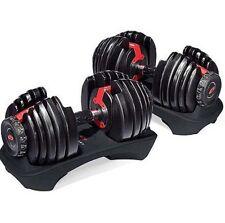 Dumbbells Adjustable Weight Bowflex Selecttech 552 Fitness Workout Set Gym New