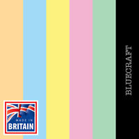 50 pack x A6 Pink Blue Yellow Green Party Blank Invite Card 240gsm All Colours